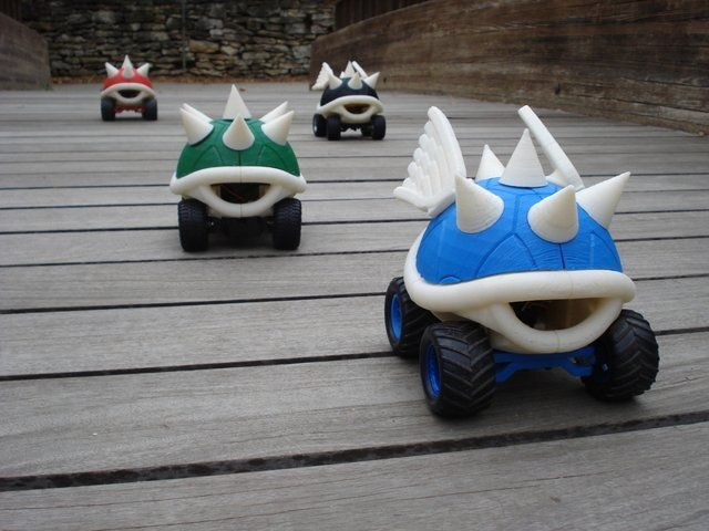 Mario Kart turtle shells make awesome RC cars