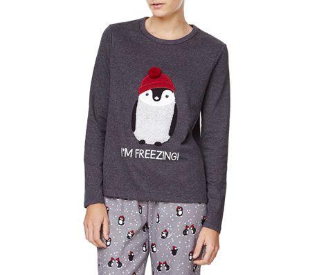 T-shirt com pinguins estampados - OYSHO