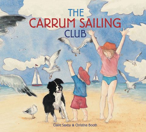 'The Carrum Sailing Club' - a #childrensbooks by #ClaireSaxby and #illustration by #ChristinaBooth. Meet a #family and their #dog who are visiting the #Carrum #Sailing #Club. Although the family plan on watching the #sailors #sail, the majority of the #story focuses on the #journey rather than the #destination.