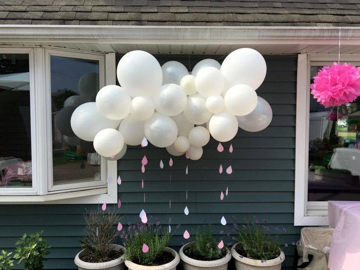 17 best images about balloon centerpieces on pinterest for Cloud centerpieces