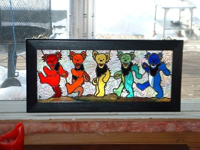 Jennys Grateful Dead Bears - Delphi Stained Glass