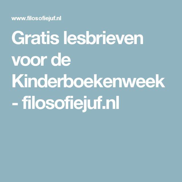 Gratis lesbrieven voor de Kinderboekenweek - filosofiejuf.nl
