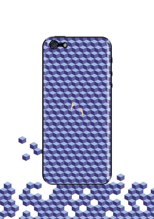 Lost in cubes by MrHobb for #Extraverso Iphone grip case #iphone #design #iphonecase #case #samsung #google