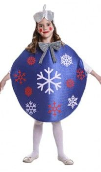 Disfraz de Bola Navidad Azul infantil