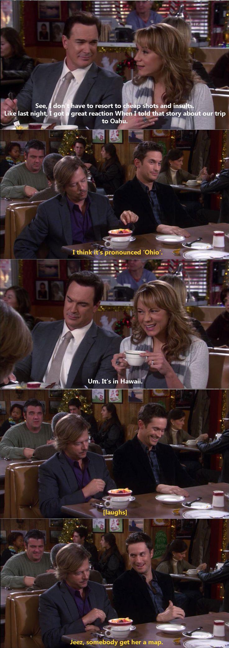 Rules of Engagement - gotta love the cute dumb guy