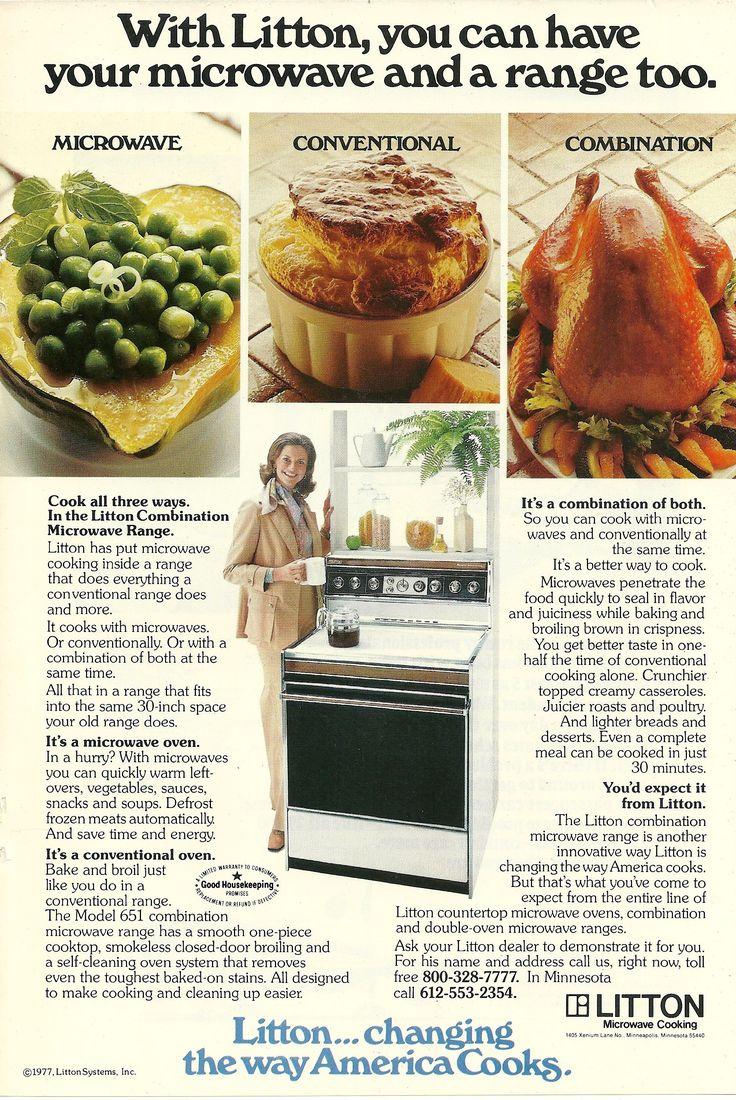 1977 Litton Combination Microwave Range Vintage Print Ad