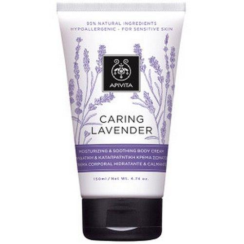 Apivita Caring Lavender Moisturizing & Soothing Body Cream, Hypoallergenic,150ml