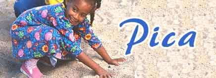 Pica is most common in people with developmental disabilities, including autism and mental retardation, and in children between the ages of ...