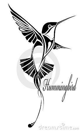 Tatouage De Colibri Photographie stock libre de droits - Image ...