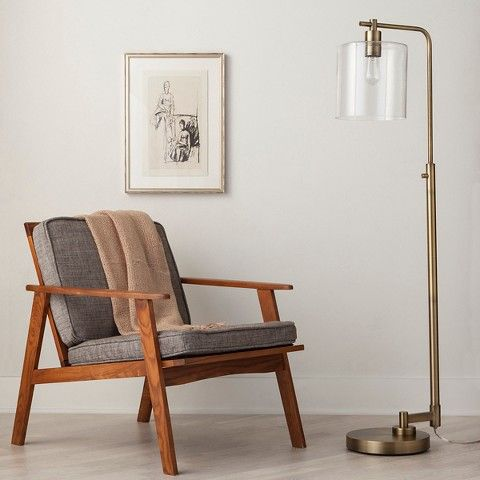 Hudson Industrial Floor Lamp - Brass (Includes CFL Bulb) - Threshold™