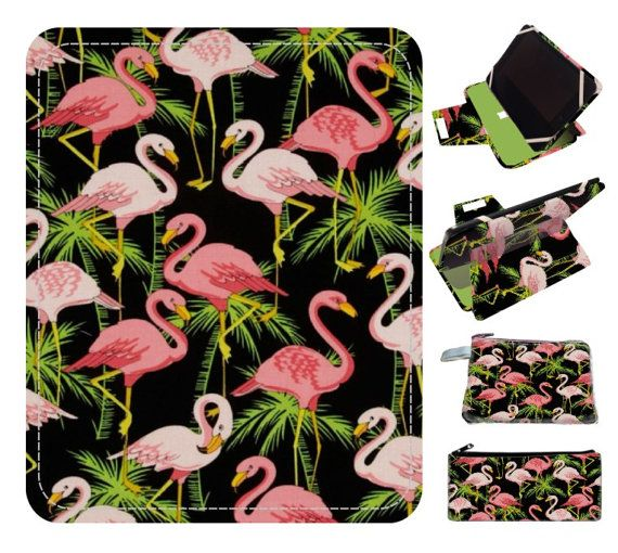flamingo ipad case stand handmade ipad cover by superpowerscases