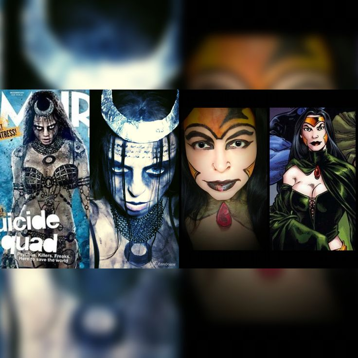 Here is a  by side of my Enchantress looks. The left one is inspired by the @empiremagazine cover with Enchantress from the new Suicide Squad movie played by @caradelevingne The one on the right is inspired by the promotion art for @dccomics Shadowpact #1 by Bill Willingham. Product details in previous post. . #Enchantress #junemoone #suicidesquad #suicidesquadmovie #dccomics #comicart #sorceress #makeup #makeupart #makeupaddict #makeupjunkie #muashootingstar #fie