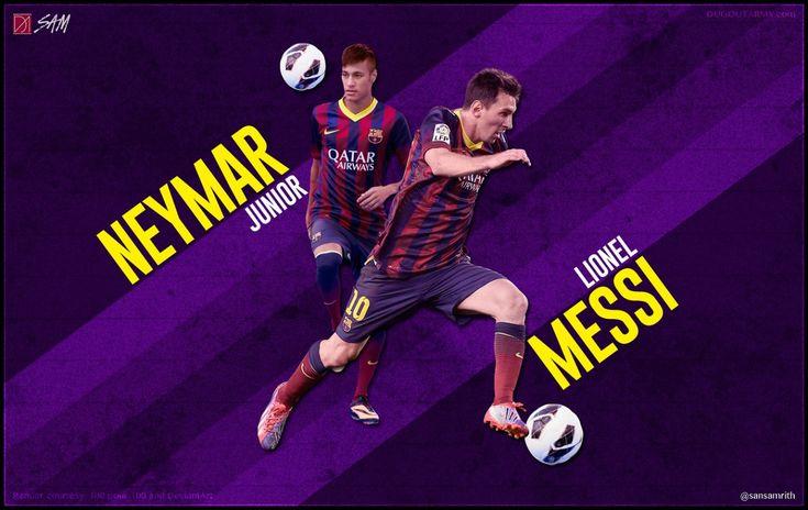 Neymar and Lionel Messi Wallpaper
