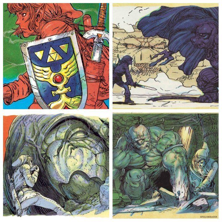 Illustrations Of Katsuya Terada For Legend Of Zelda Link S