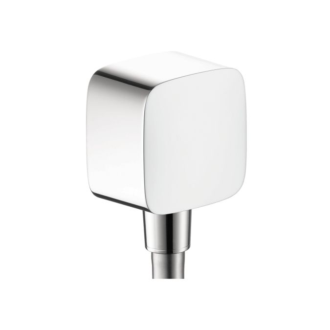 Hansgrohe 27414 PuraVida Wall Outlet With Check Valve Polished Chrome Shower  Accessories Wall Supply Elbows