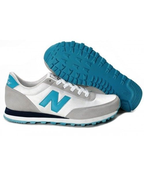 [FREE SHIPPING!] New Balance 501 Trainers Womens White Black Turquoise Authentic $69.80