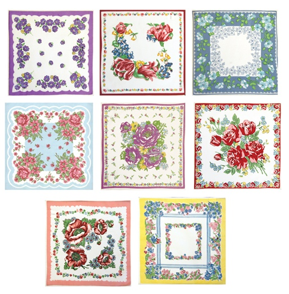 hankies---- I'd like to use iron sheets and then put it on fabric. Then I'd be able to use thin fabric
