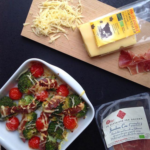 Vanløse blues.....: Broccoli & tomater - gratineret med parmaskinke og ost