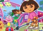 Swiper, la volpe, durante l'assenza di Dora ha festeggiato con alcuni amici fino a tarda notte. Nessuno di loro ha pulito casa e adesso Dora e Boots devono cavarsela da soli!