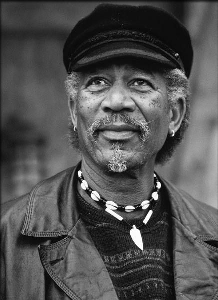 "Morgan Freeman. He's so powerful in the movie ""lean on me"""