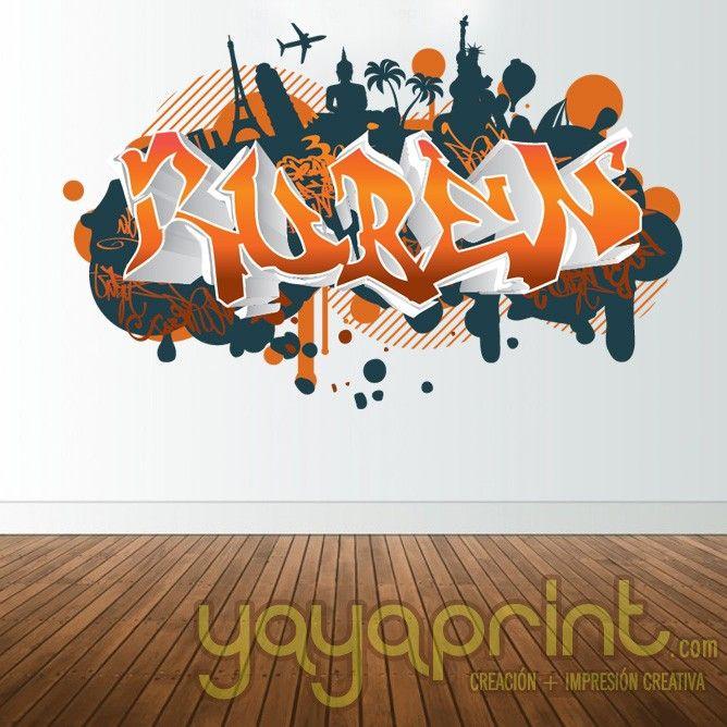 Mejores 232 im genes de graffiti nombre decoraci n for Vinilos habitacion juvenil chico