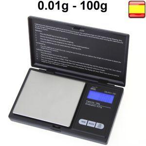 a peso bascula de precision balanza digital 001 100g profesional pilas incluidas