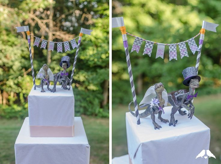 #DIY tutorial: How to make a dinosaur cake topper | Tutorial & images by Ribbons & Bluebirds