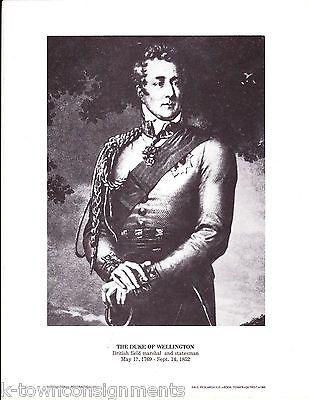 The Duke of Wellington British Field Marshal & Statesman Vintage Portrait Print