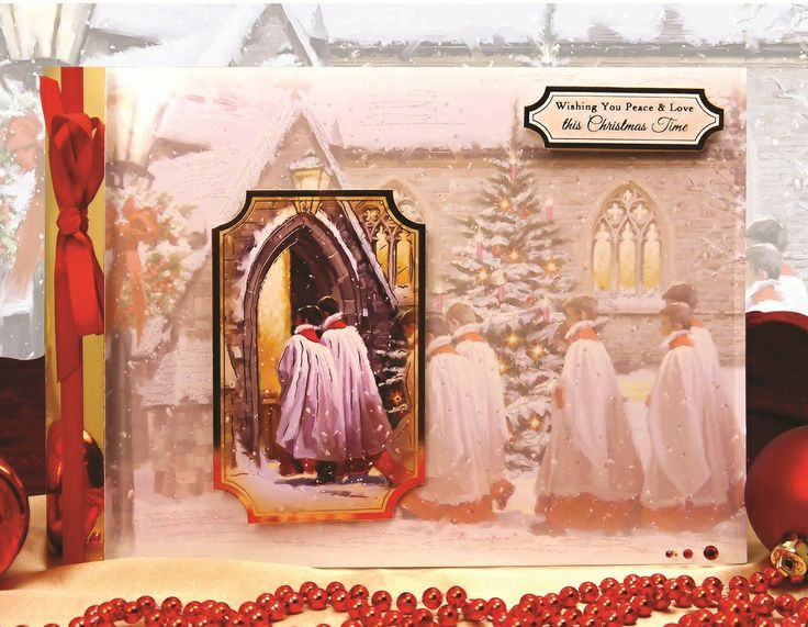 Traditional Christmas by HUnkydory Crafts. Card made using 'Christmas Choir' topper set. Part of the 2014 Christmas Craftinator Collection