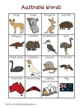 Writing Center Tools- Australia Words