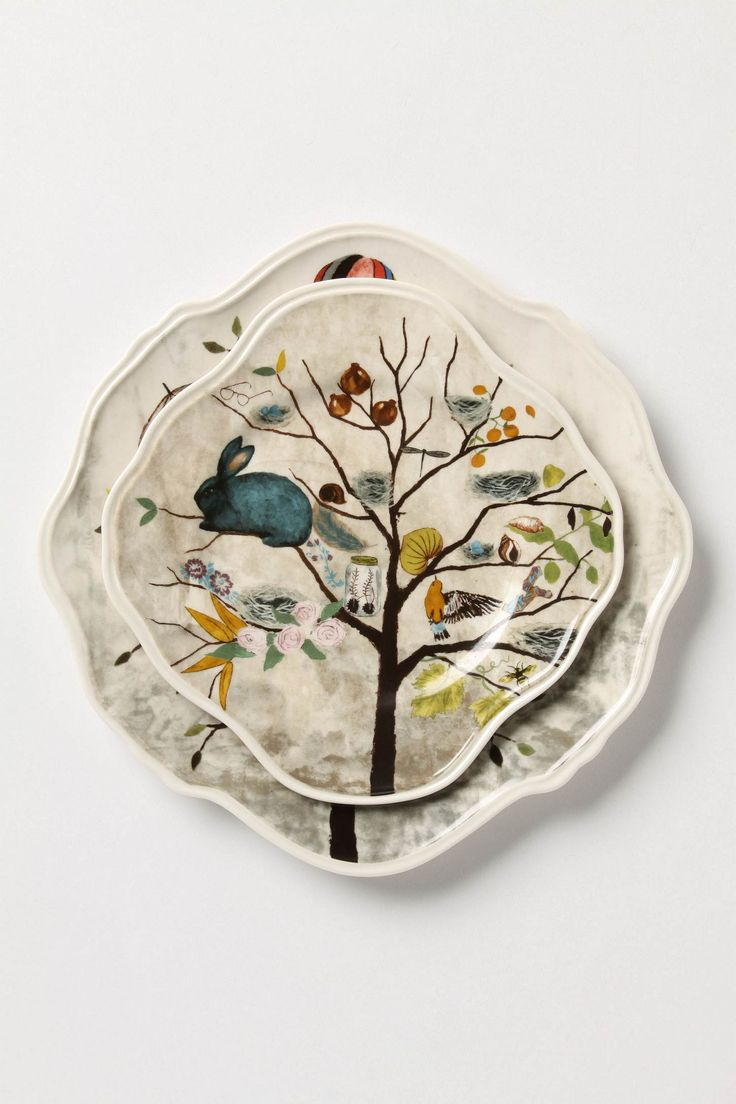 Curious Deciduous Dinner Plate - Anthropologie.com LOVE
