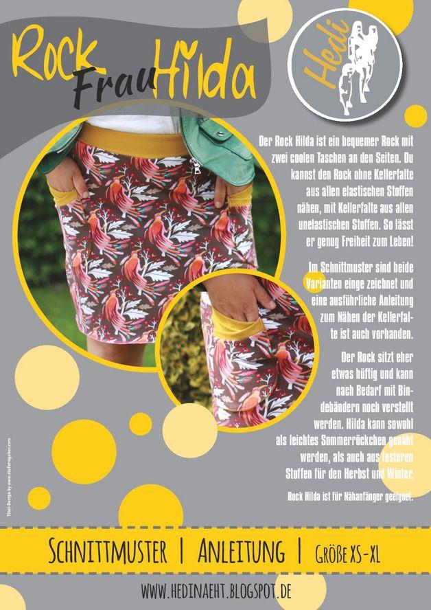 Röcke & Hosen - E-BOOK Rock Frau Hilda für Damen und Teens - ein Designerstück von Hedinaeht bei DaWanda