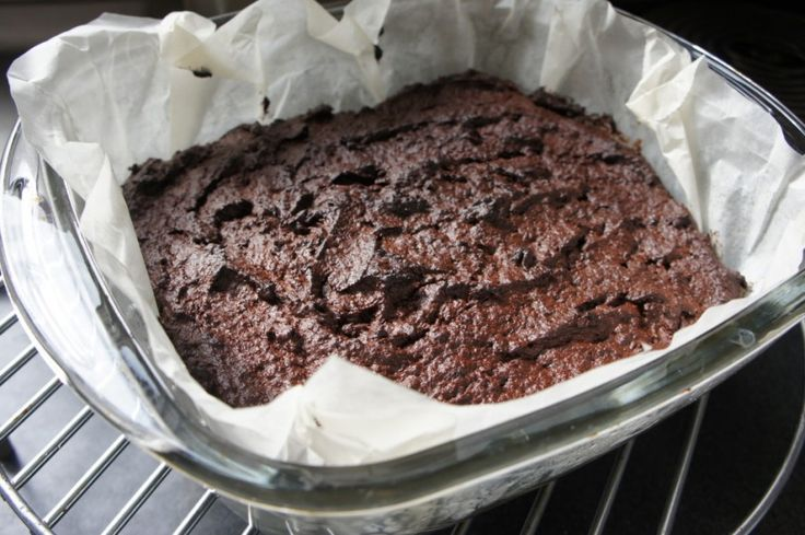Chocolade brownie met fudge topping Edit to recept: Geen toping Kokosolie/roomboter 50/50
