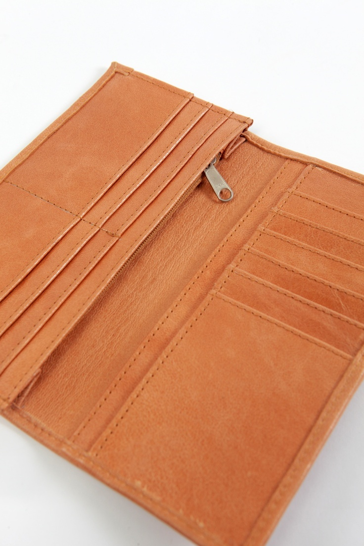 Leather Wallet in Tan. apostrophe' studio designs
