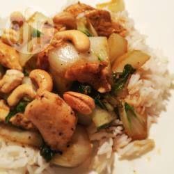 Foto recept: Teriyaki kip met paksoi en kokosrijst