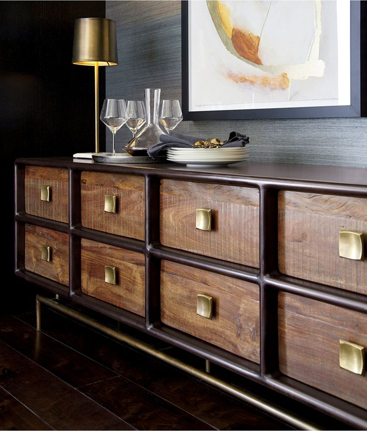 With Its Eclectically Modern Mixed Material Design The Zander 8 Drawer Dresser