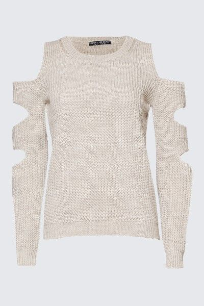 CUT OUT NECK AND SLEEVE JUMPER
