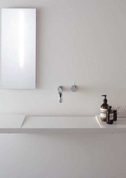 If this sink was any more minimalist it would be invisible!