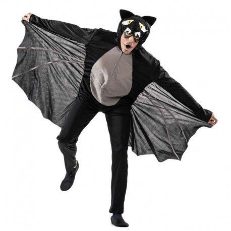 Disfraces Halloween | Disfraz de murciélago. Contiene buzo de cuerpo entero con alas y cabeza capucha.Talla M/L. 18,95€ #murcielago #disfrazmurcielago #disfraz #halloween #disfrazhalloween #disfraces