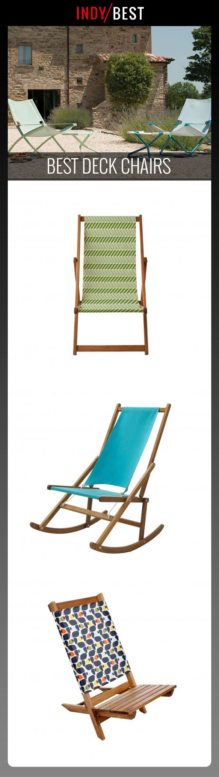 Whether you're on the beach or in the back garden, recline in style with a tried-and-tested deck chair: http://ind.pn/2sXcIDX