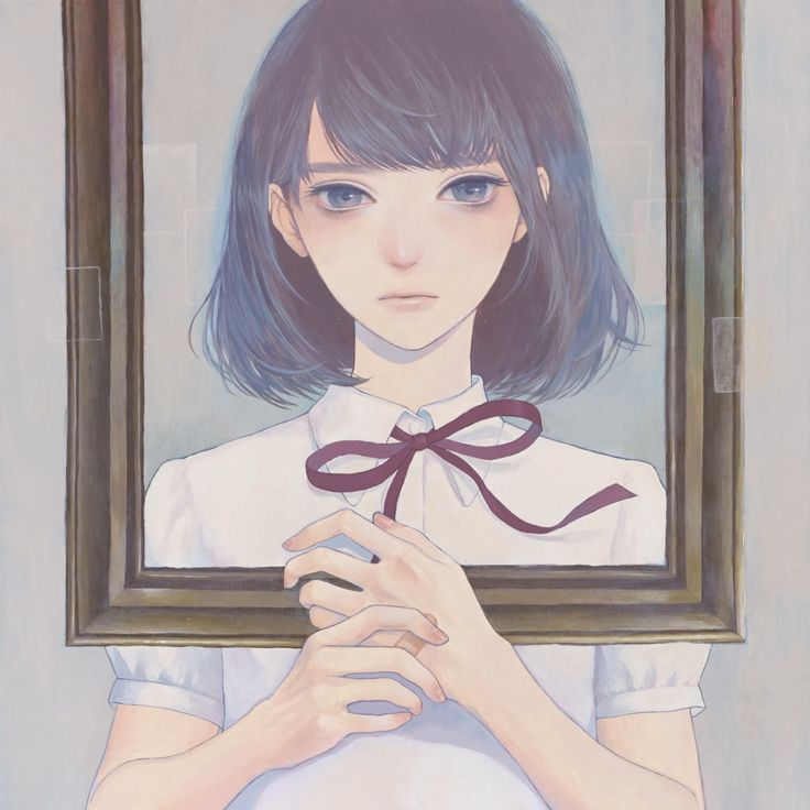 Mayumi Konno - 「額縁の中」 紺野真弓 Mayumi Konno 2015 530x530mm キャンバスにアクリル...