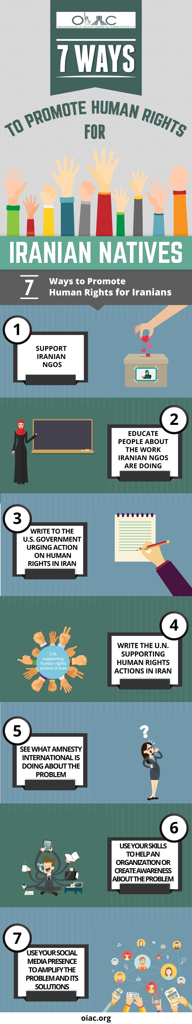 Supporting human rights in a far away country may seem difficult, but there is always something you can do. Check out these 7 tips for supporting human rights in Iran form the experts at the Organization of Iranian-American communities.