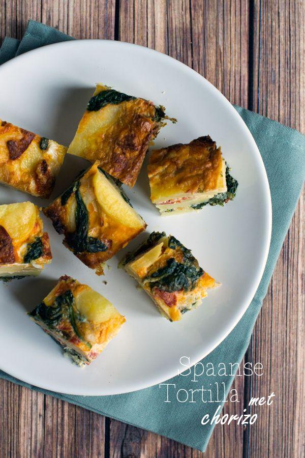 Spaanse Tortilla met Chorizo - Brenda Kookt