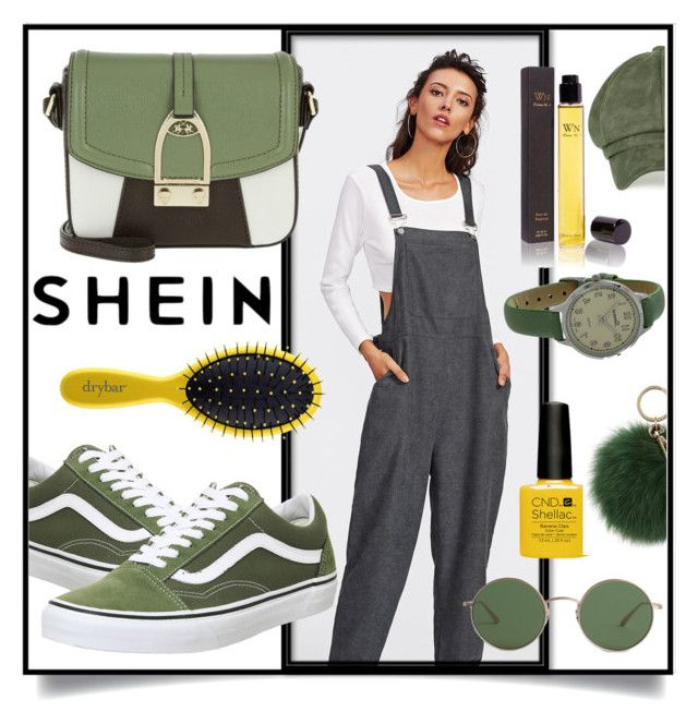 """SheIn Bib Pocket Front Harem Overalls"" by branqa ❤ liked on Polyvore featuring Wendy Nichol, Drybar, Vans, LA MARTINA, Geneva, Coccinelle, The Row, contest, Sheinside and casualoutfit"
