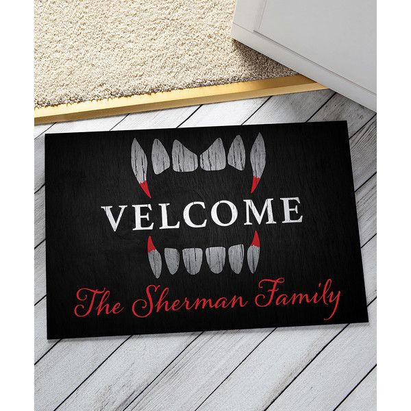 Personalized Planet U0027Welcomeu0027 Personalized Doormat ($17) ❤ Liked On  Polyvore Featuring Home