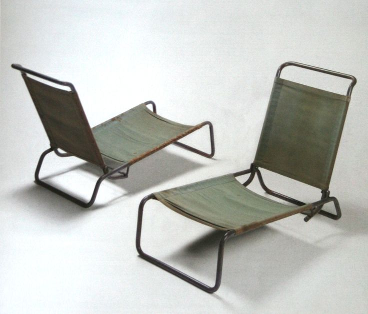 Canvas Lounge Chairs Charlotte Perriand