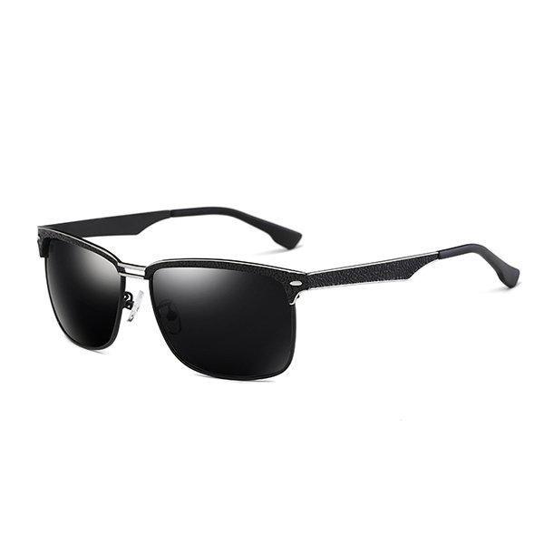 Classic Anti-UV Polarized Driving Sunglasses Inside Blue Coating Film Glasses For Men
