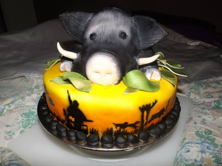 Pig hunting cake by Patricia Patullo