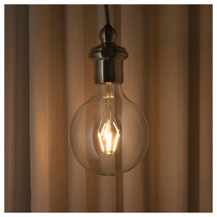 IKEA LUNNOM LED bulb E26 600 lumen globe clear glass