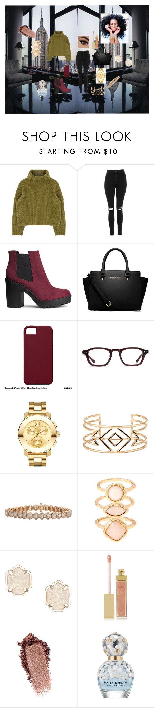 """Untitled #102"" by rosesanders on Polyvore featuring Topshop, H&M, MICHAEL Michael Kors, Case-Mate, Converse, Movado, Stella & Dot, Inbar, Monsoon and Kendra Scott"